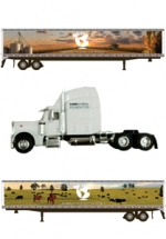 Farmers Feeding the World Collectible Semi (white)